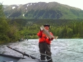 Capt. Larry Salmon Fishing in Alaska