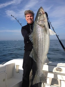 Capt Larry with Striper